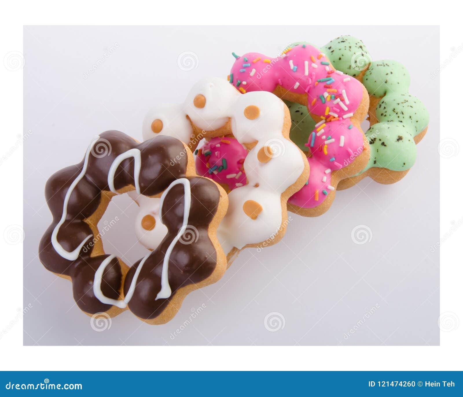 Doughnut, Kleurrijke Donuts op achtergrond