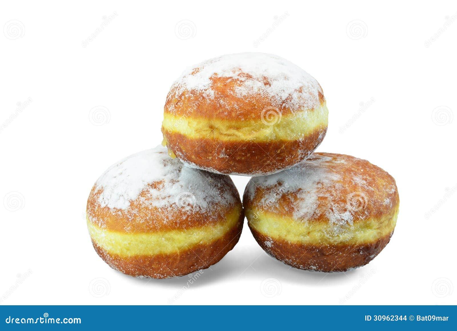 Doughnuts With Vanilla Custard - Gogosi Stock Images - Image: 30962344