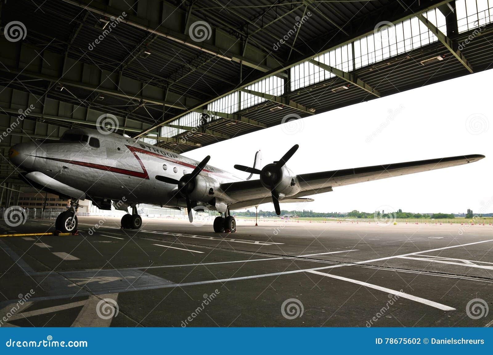 Douglas Skymaster In The Boarding Area Of Historic Berlin Tempelhof