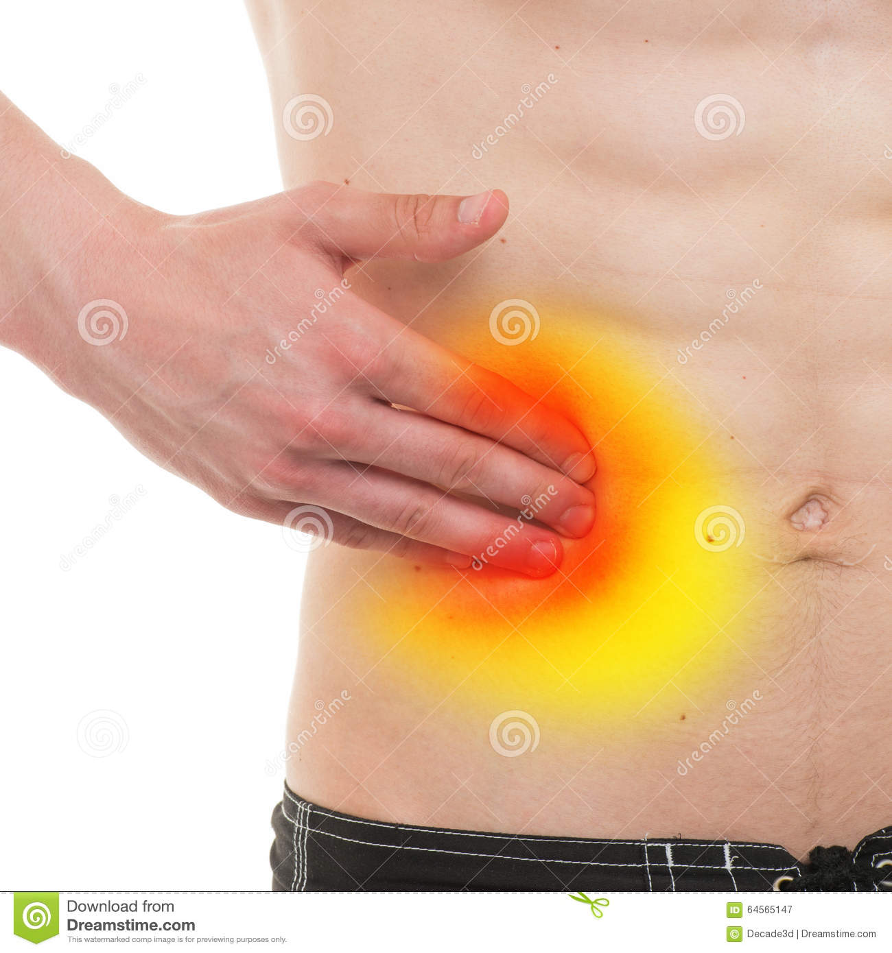 Photo Stock Douleur Abdominale Douleur Masculine De C T Droit D Anatomie D Isolement Sur Le Blanc Image64565147 on human body anatomy internal organs diagram right side