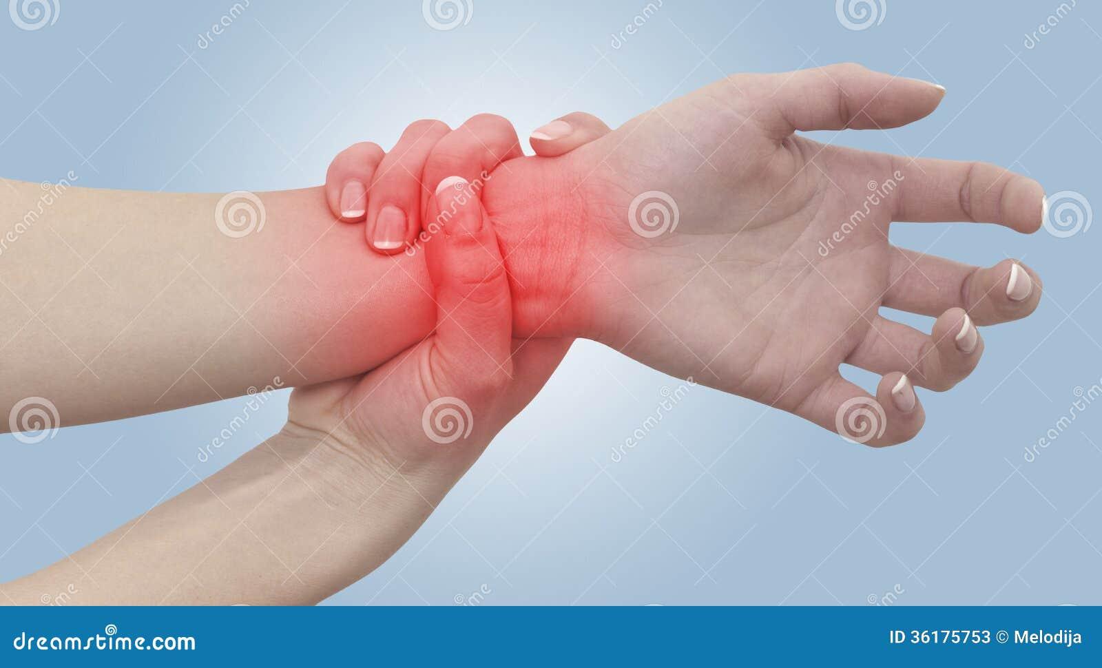 douleur aigu dans un poignet de femme main se tenante femelle la tache des wris image stock. Black Bedroom Furniture Sets. Home Design Ideas