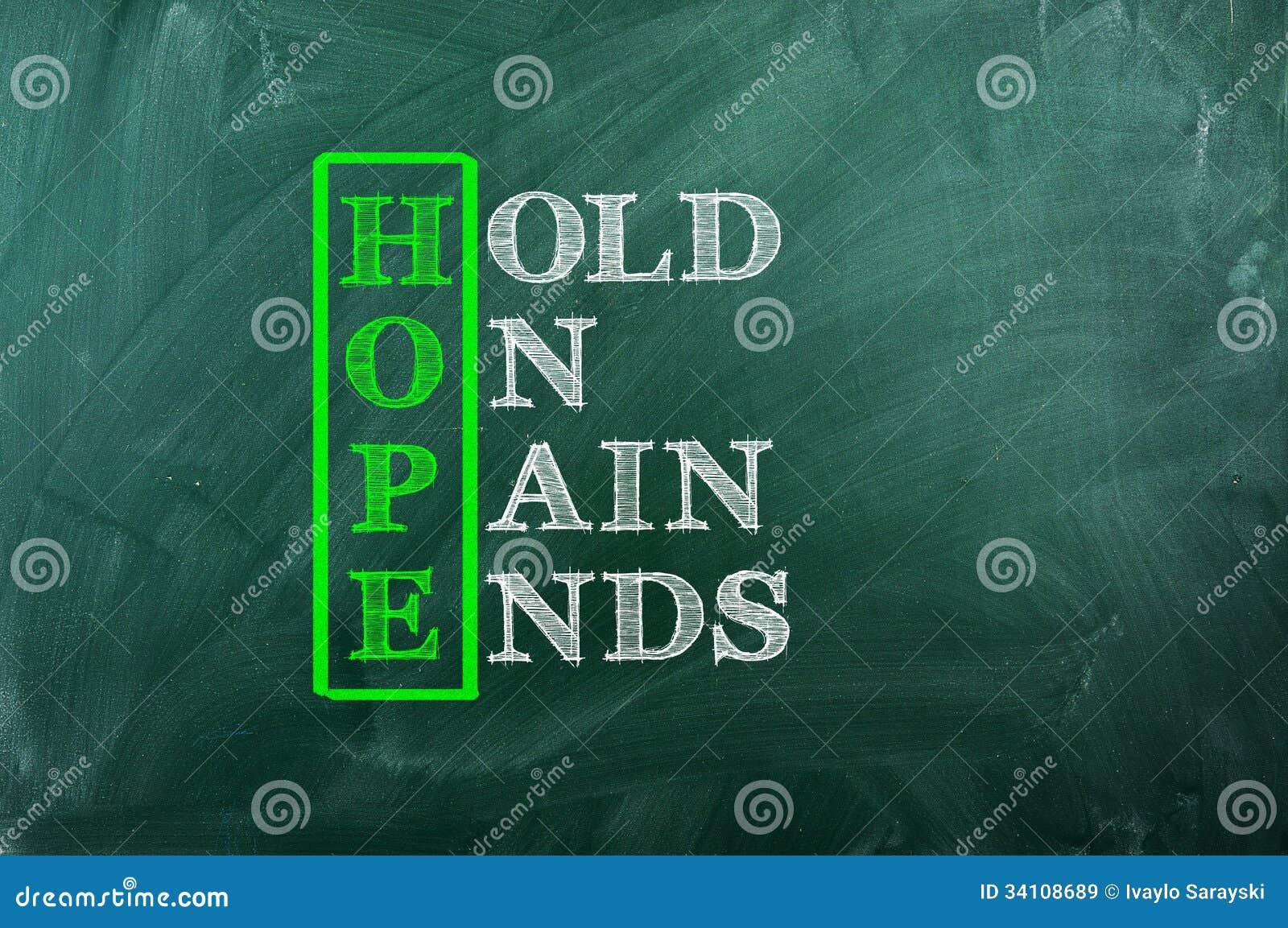 Douleur d espoir