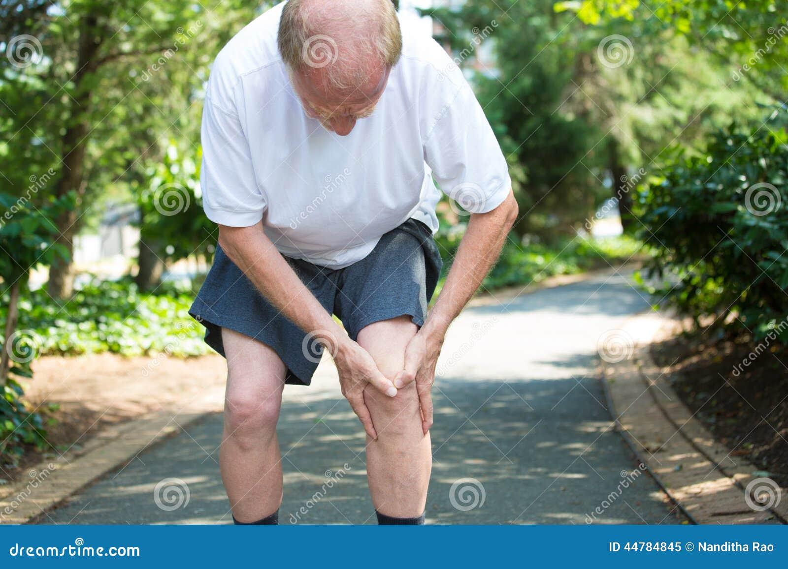 Douleur de genou photo stock image 44784845 for Douleur genou exterieur