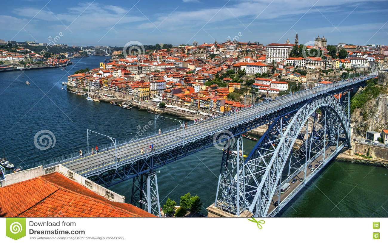 Douro River and Dom Luis I Bridge in Porto