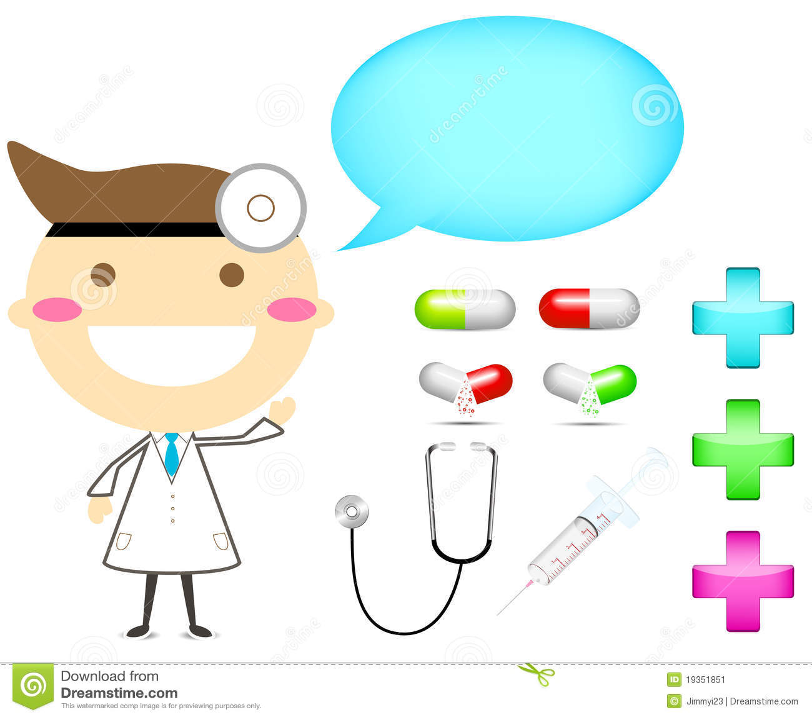 Doutor com droga da ferramenta e sinal da cruz