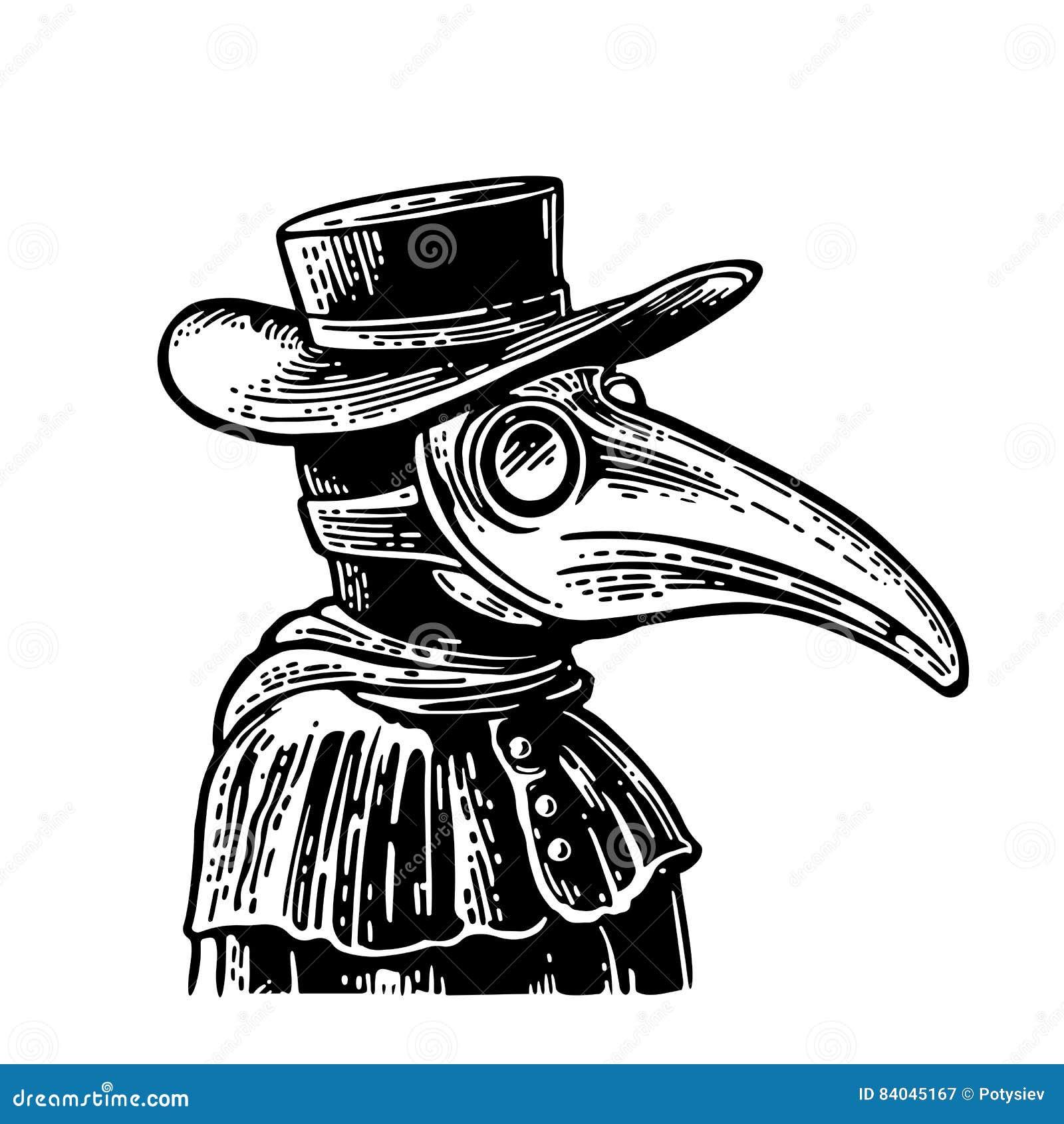 Máscara De Pássaro Animal /& Chapéu Bico Preto E-Oran