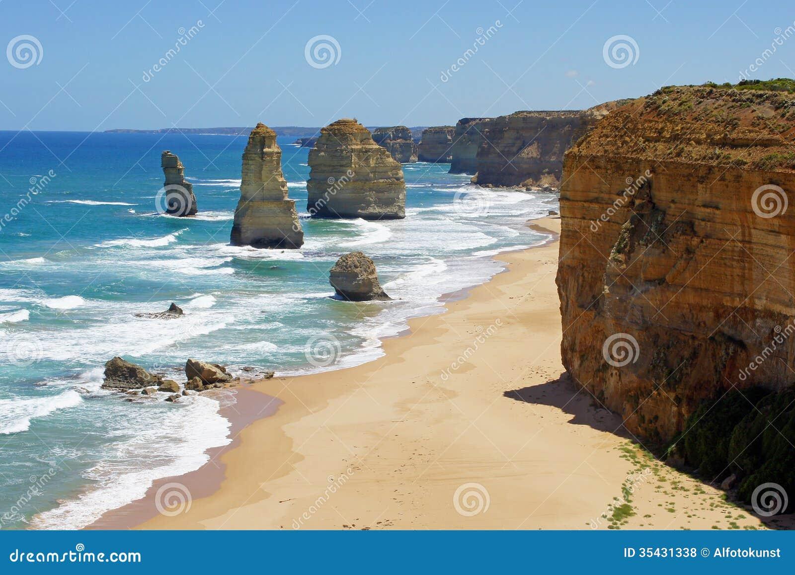 Douze apôtres, grande route d océan, Australie