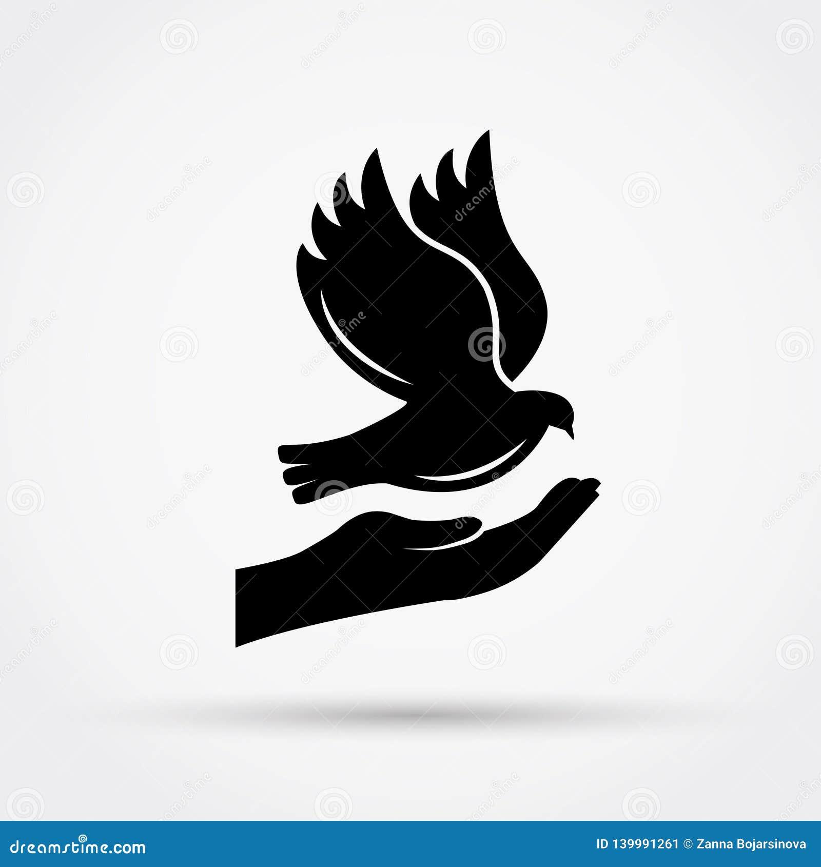 Dove вручает удерживание Концепция мира