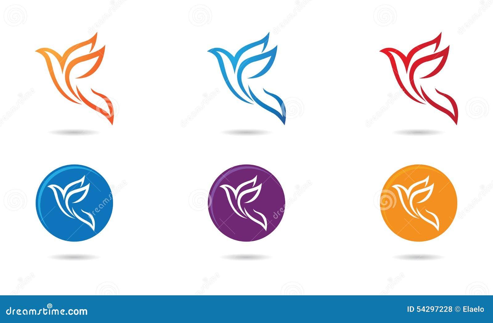Dove Bird Logo Stock Vector
