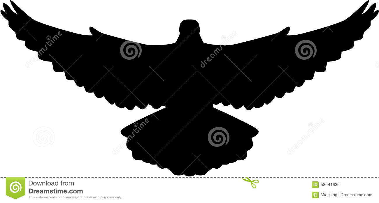 flying dove vector
