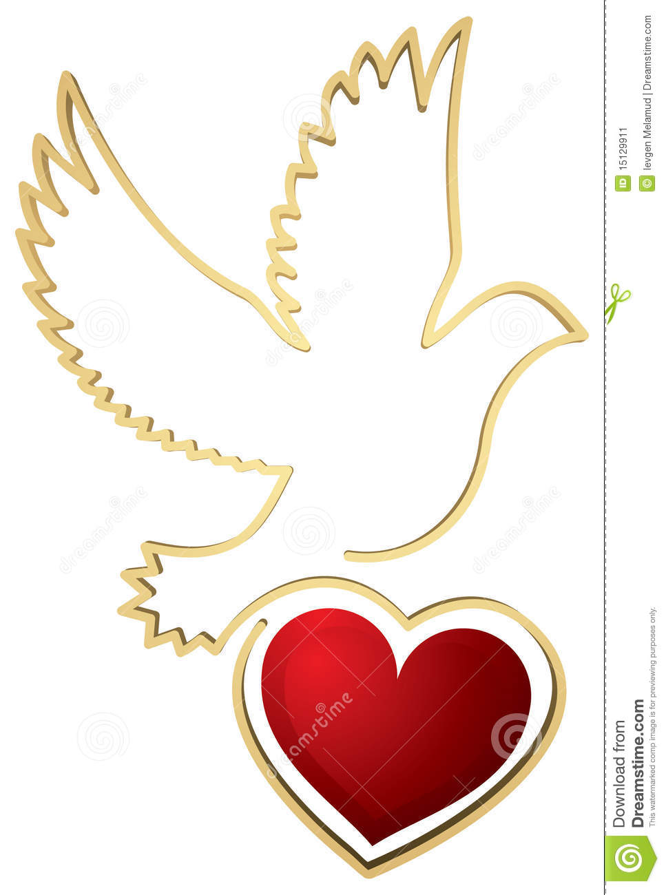 Dove With Heart Shape Stock Image Image 15129911