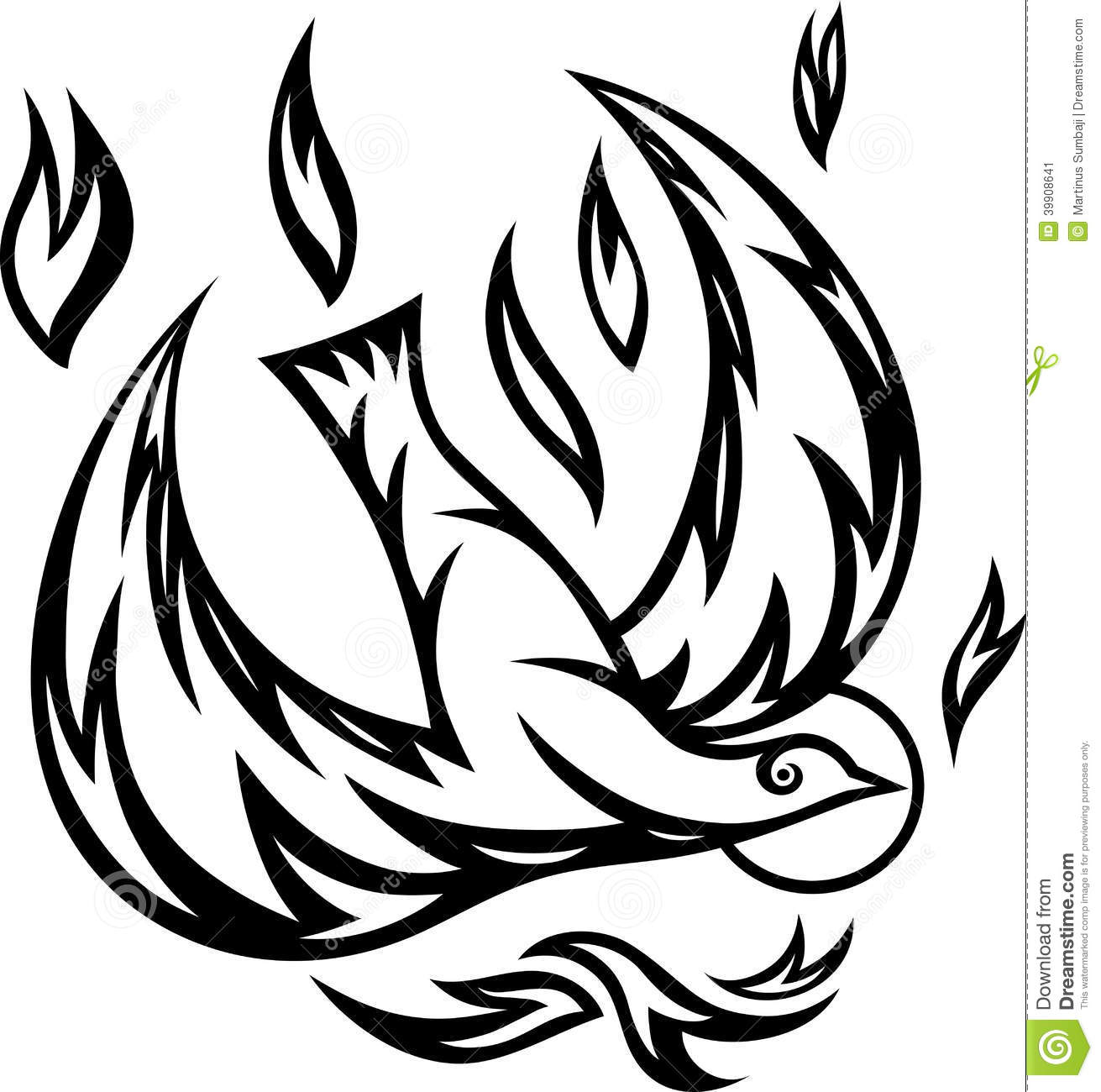 Dove Holy Spirit Ornate Stock Vector Illustration Of Symbol 39908641