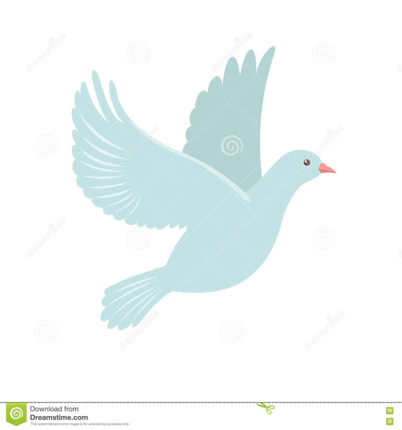 dove icon in flat style stock vector image 76459729