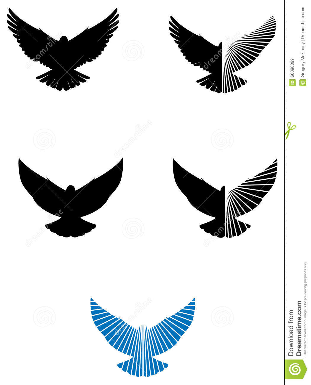 Dove Logo Icons Stock Vector Illustration Of Again Christian