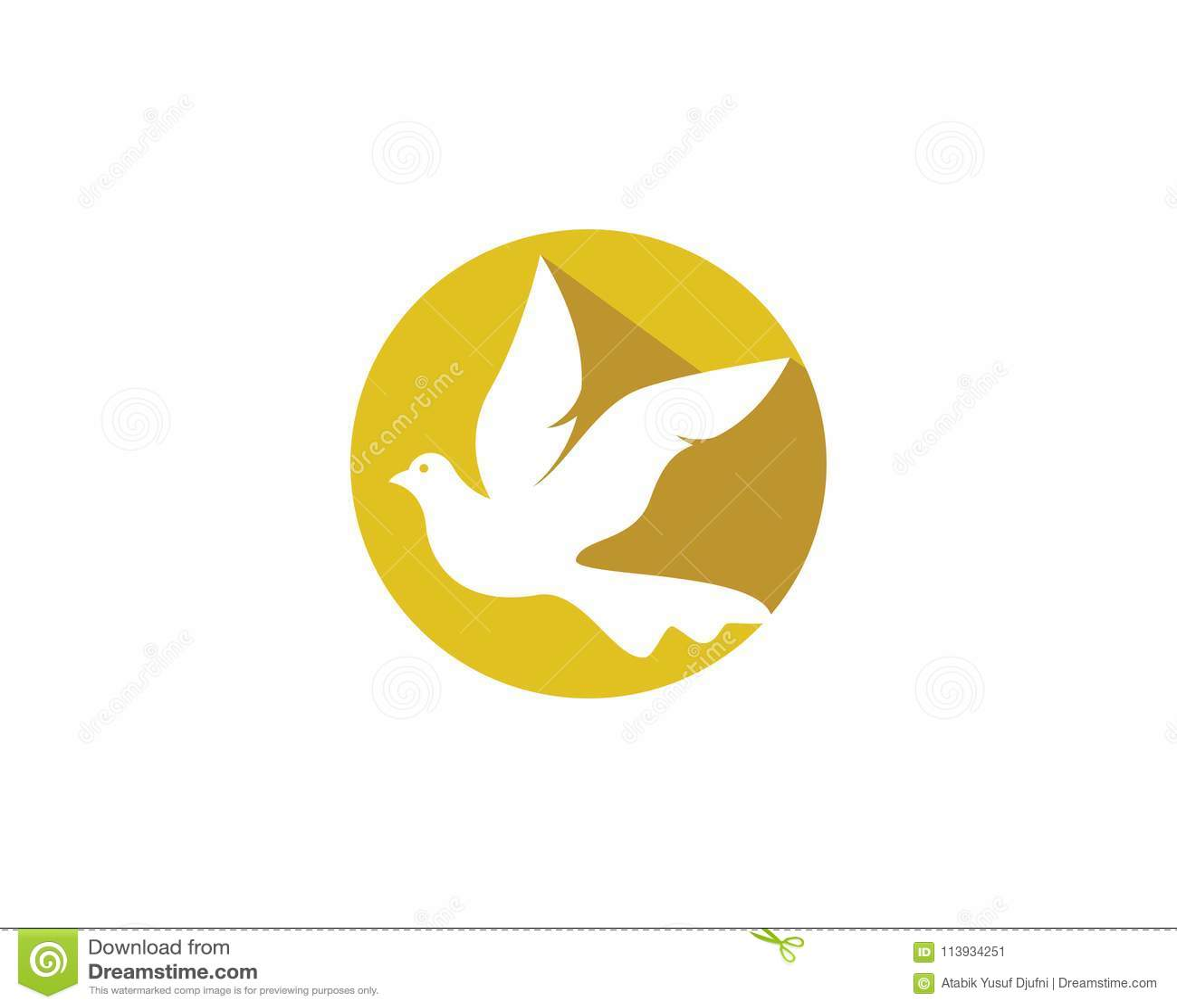 dove vector icon stock vector illustration of fancy 113934251