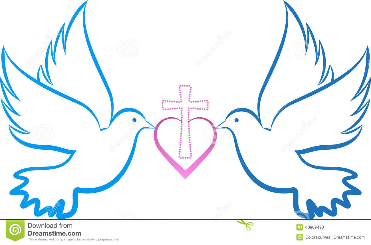 cross and dove clip art