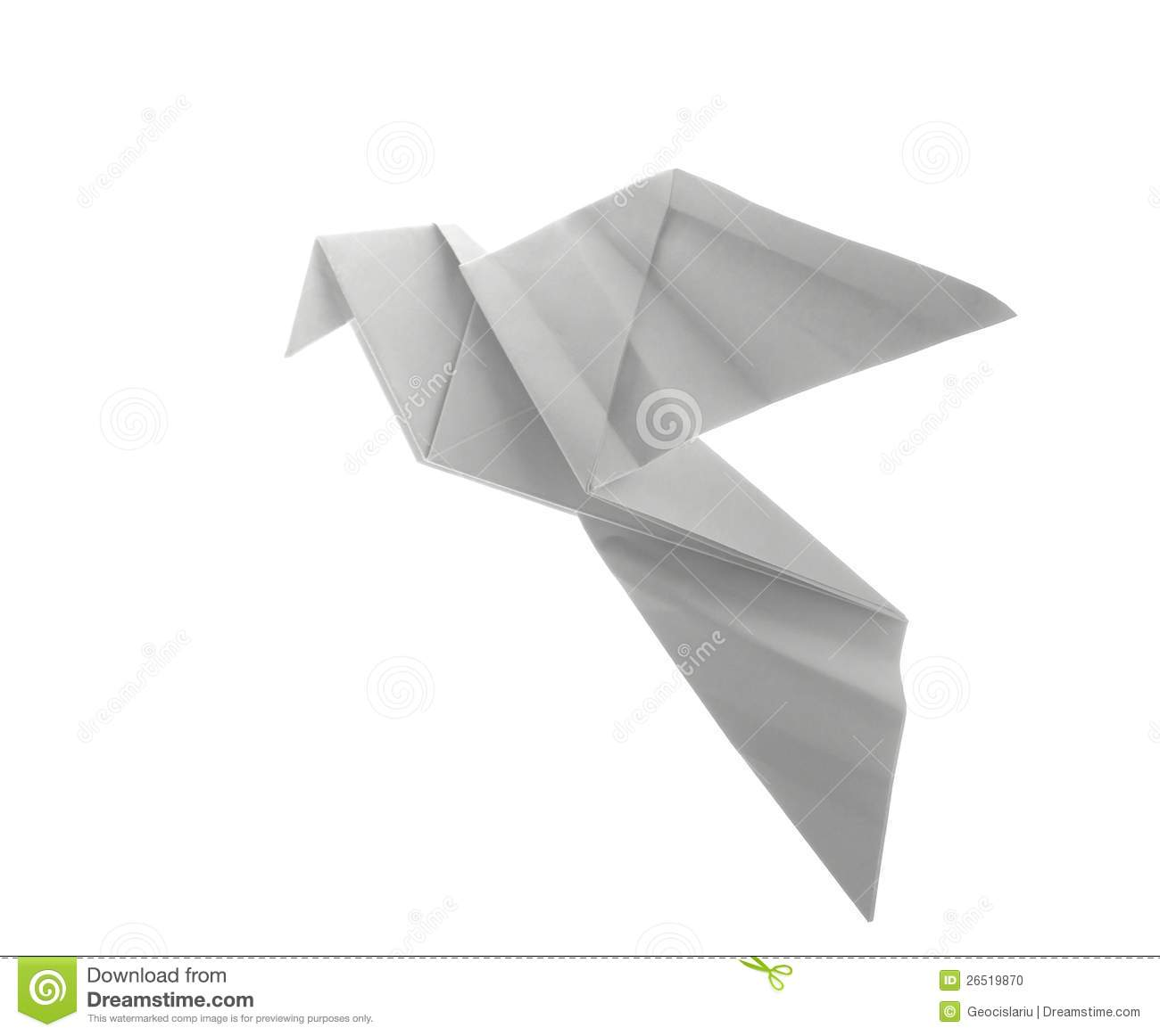 how to make a paper dove bird