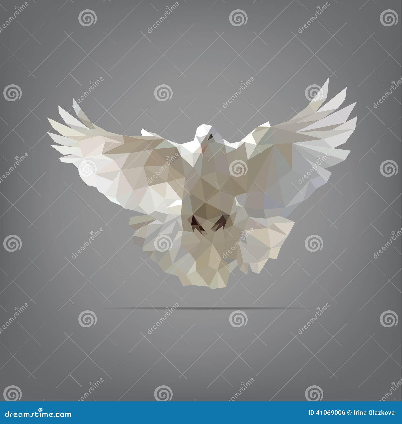 Dove In Origami Style. Vector Illustration Stock Vector ... - photo#34