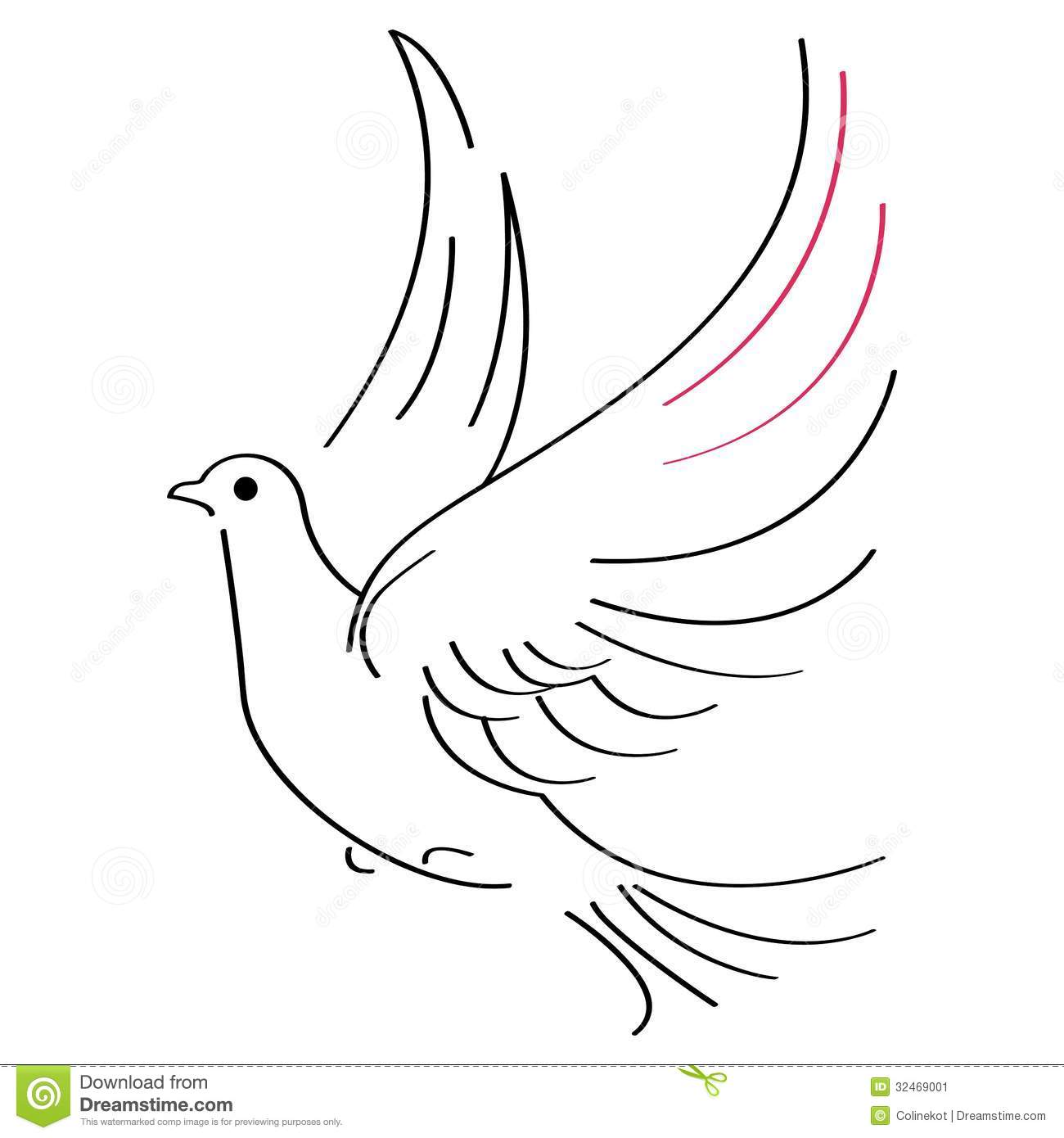Dove Sketch Stock Vector. Image Of Holy Background Bird - 32469001