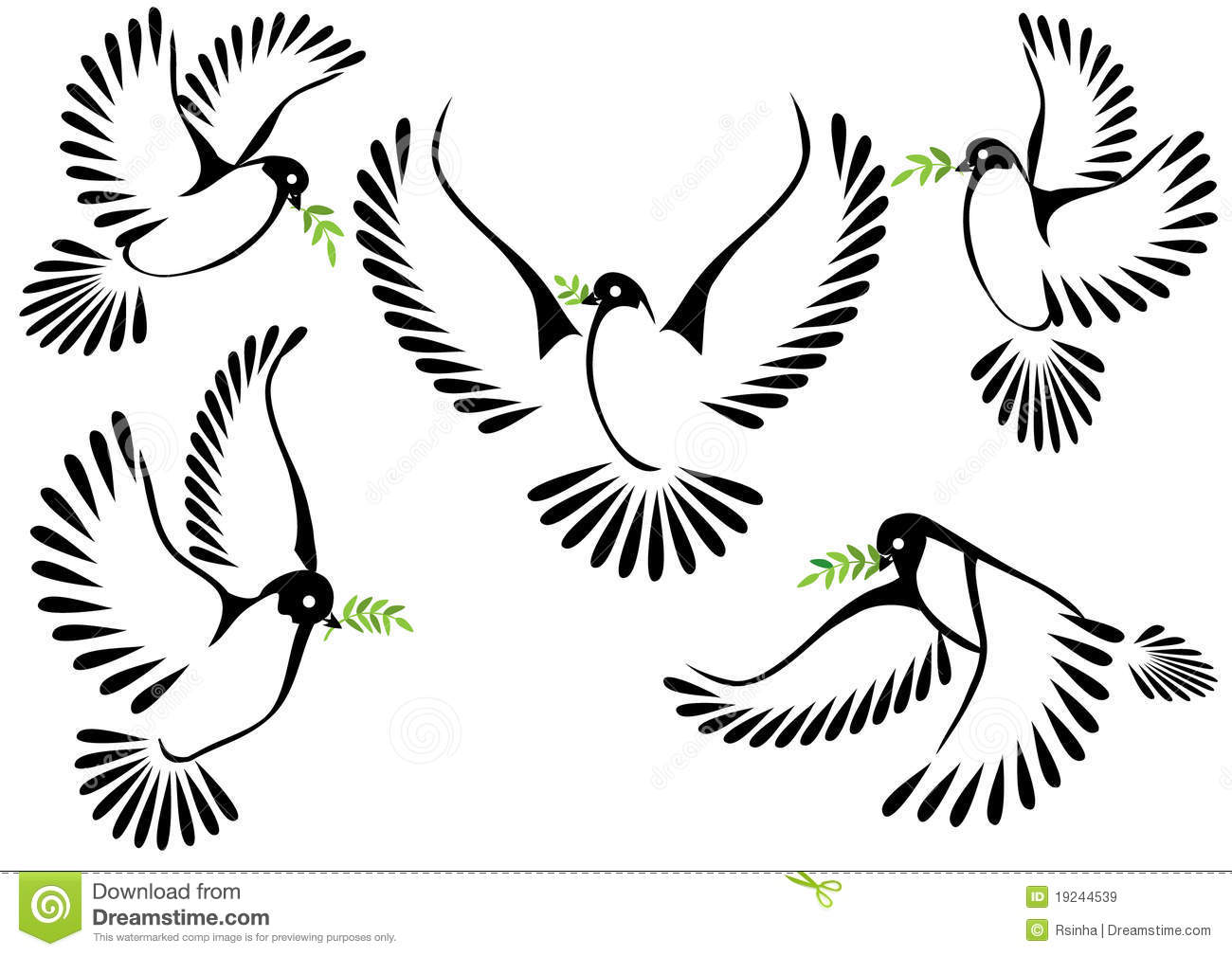Dove Symbol Of Peace And Freedom Stock Illustration Illustration