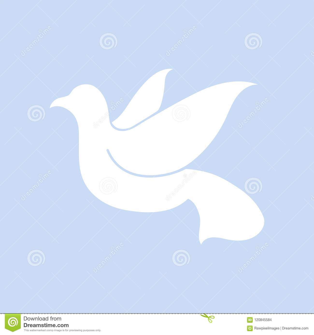 Dove Symbol Of Peace Illustration Stock Vector Illustration Of