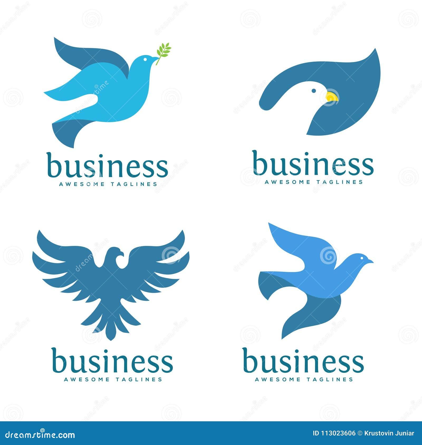 Dove Vector Logo Concept Illustration Stock Vector Illustration Of