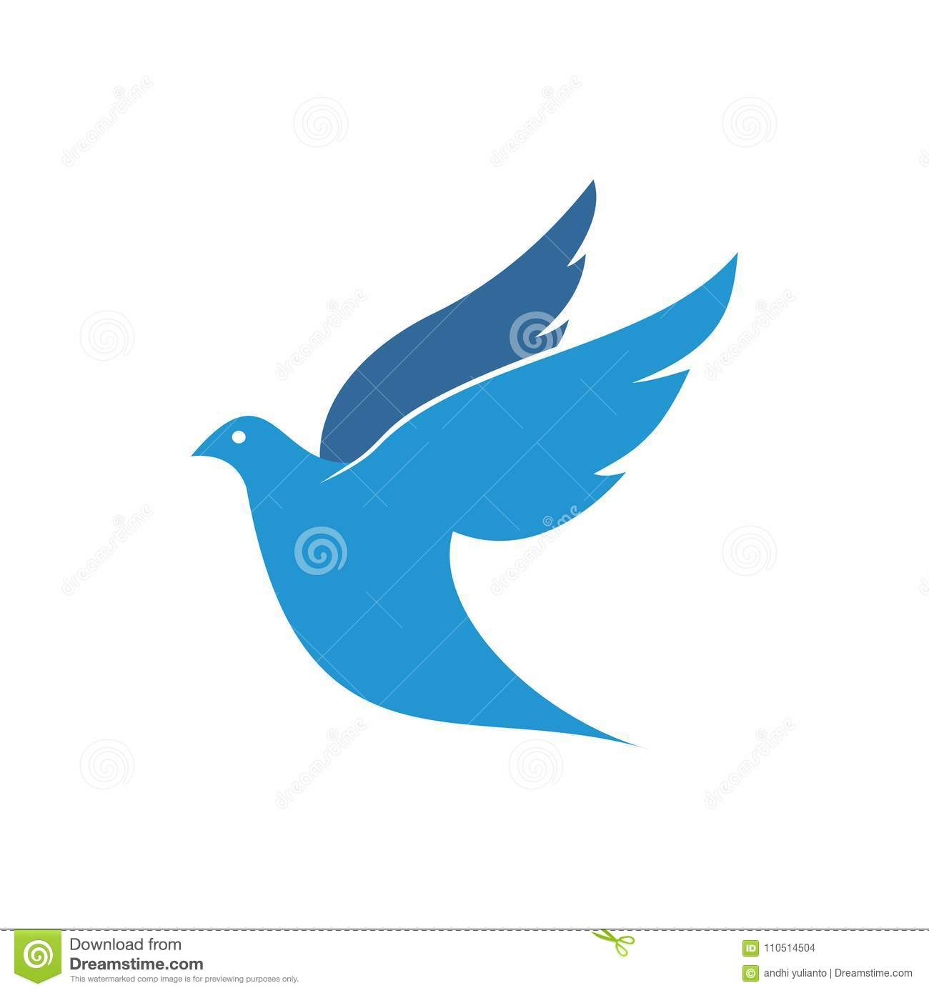 Dove Vector Logo Design Symbol Of Peace And Humanity Stock
