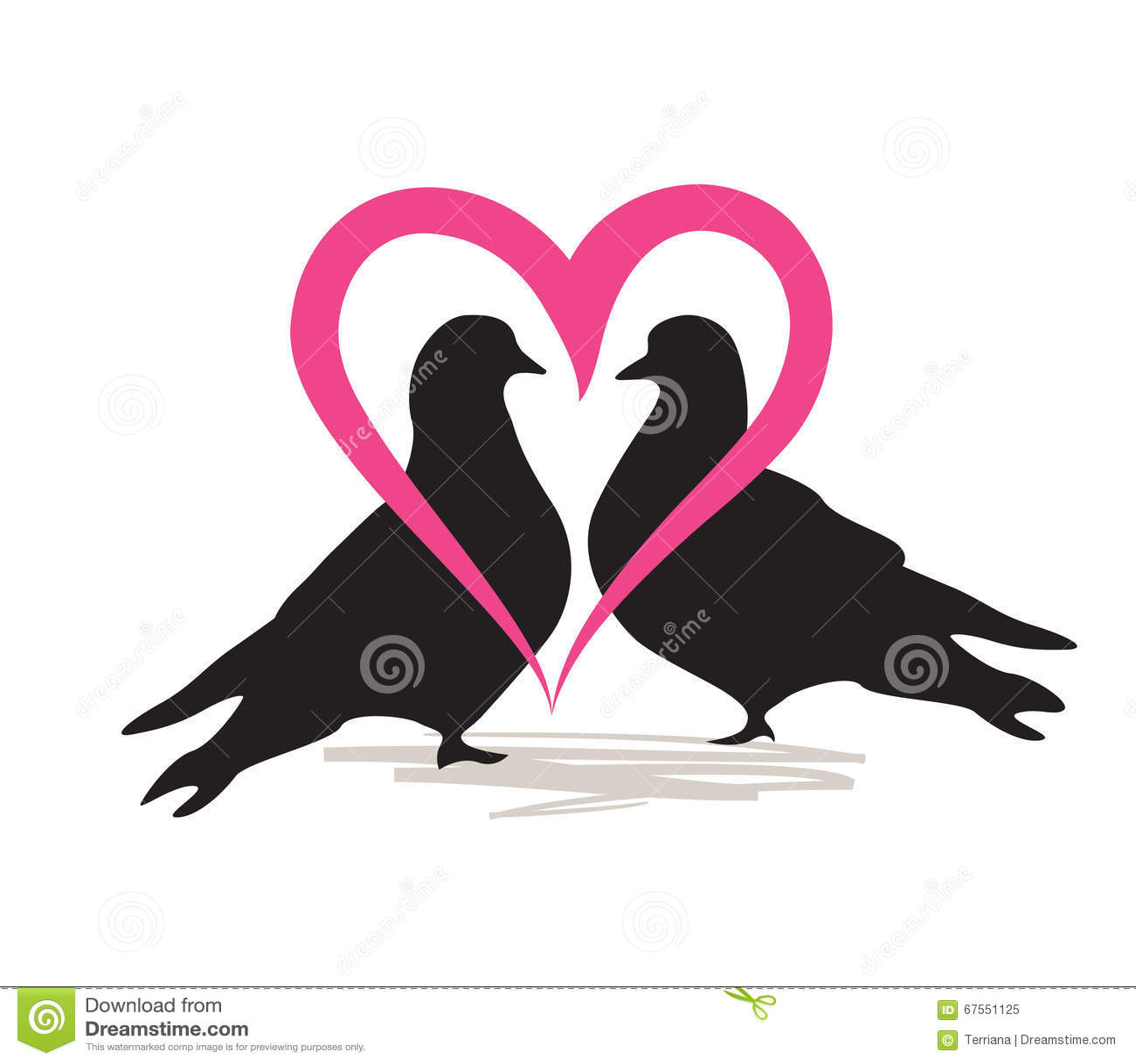 wedding dove silhouette
