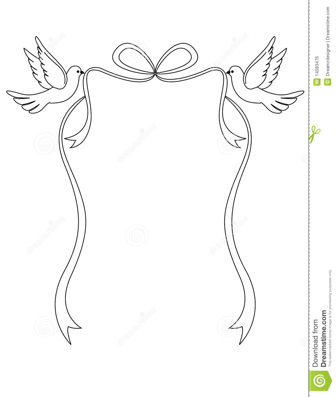 Doves Of Love Stock Vector Illustration Of Feathers