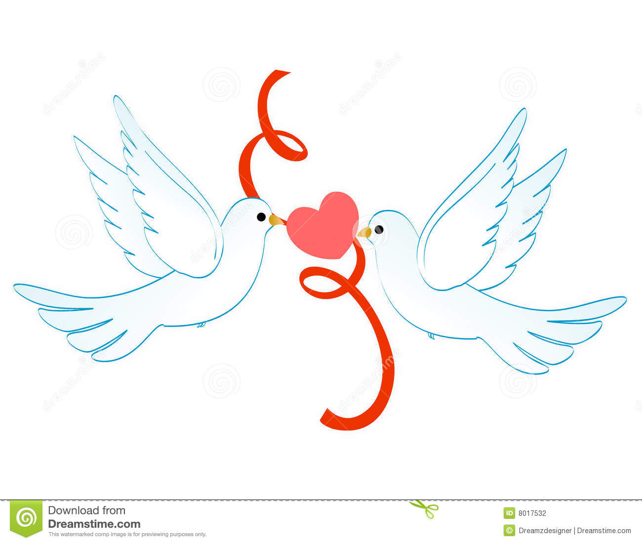 Doves Of Love Stock Photography - Image: 8017532