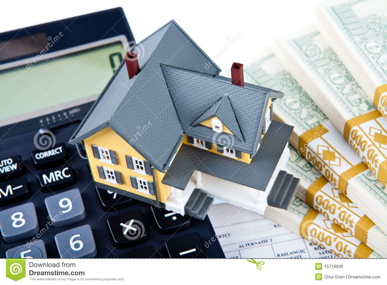 Down Payment For House Royalty Free Stock Image