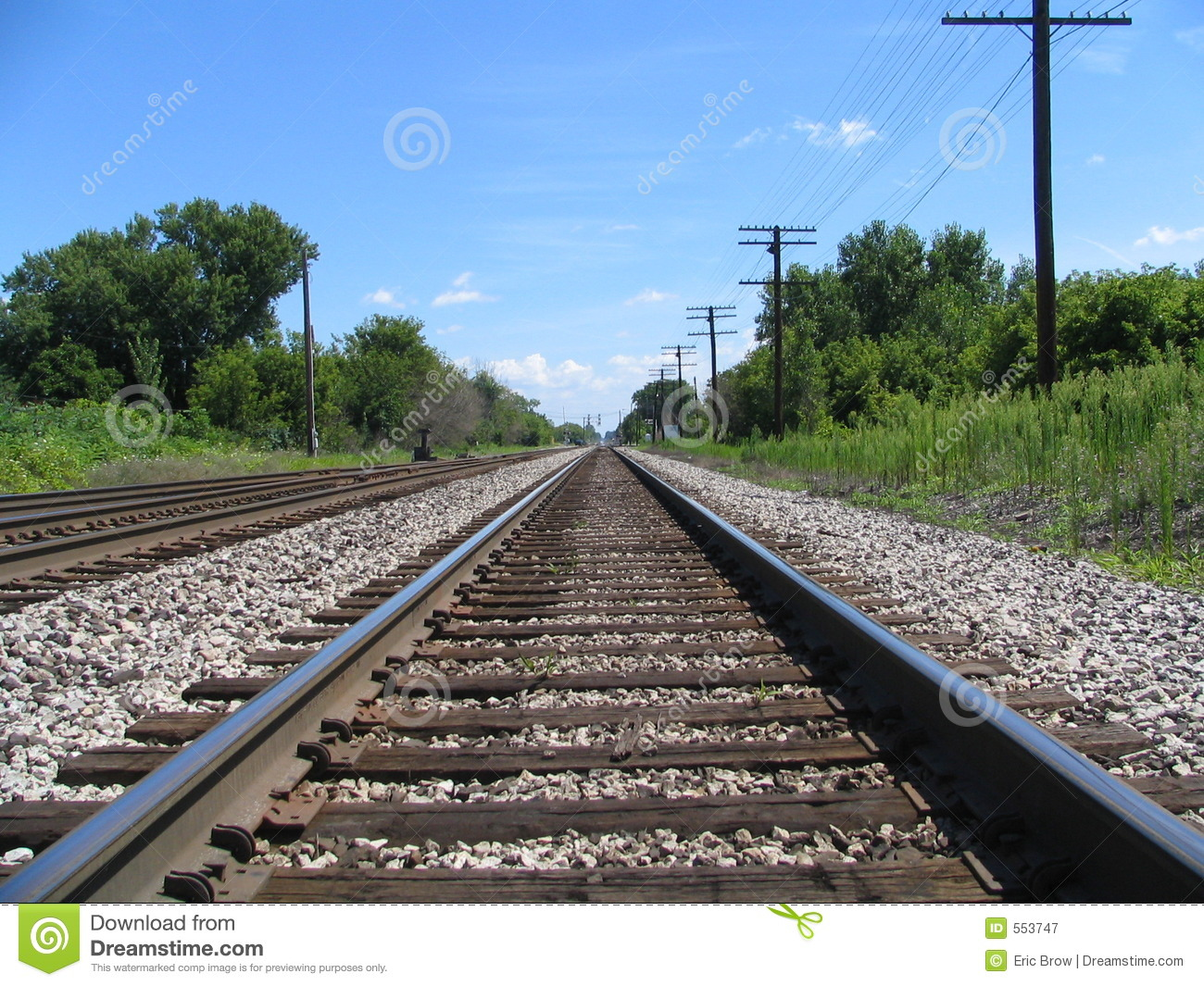 Download Down The Tracks stock image. Image of bushes, sunshine - 553747