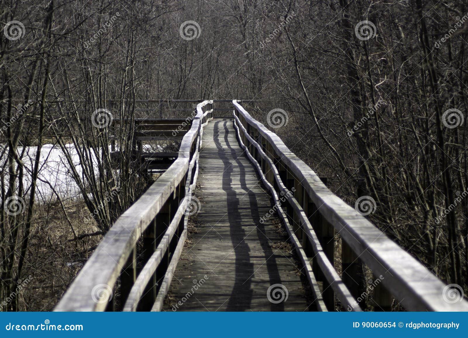Down the Winter Boardwalk