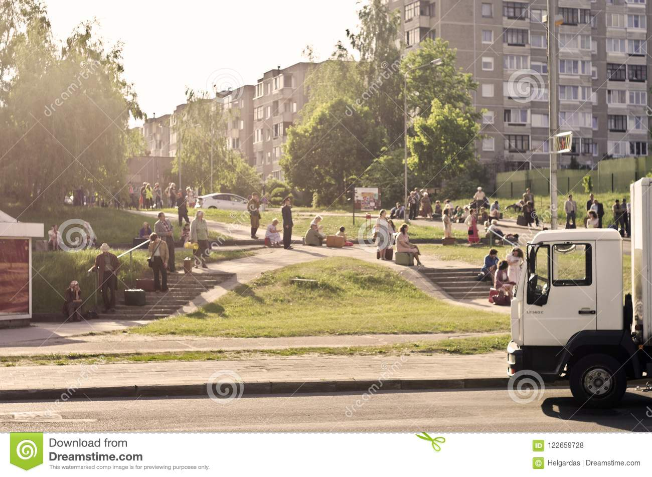 Filming Tv Series Chernobyl, Lithuania Editorial Stock Photo