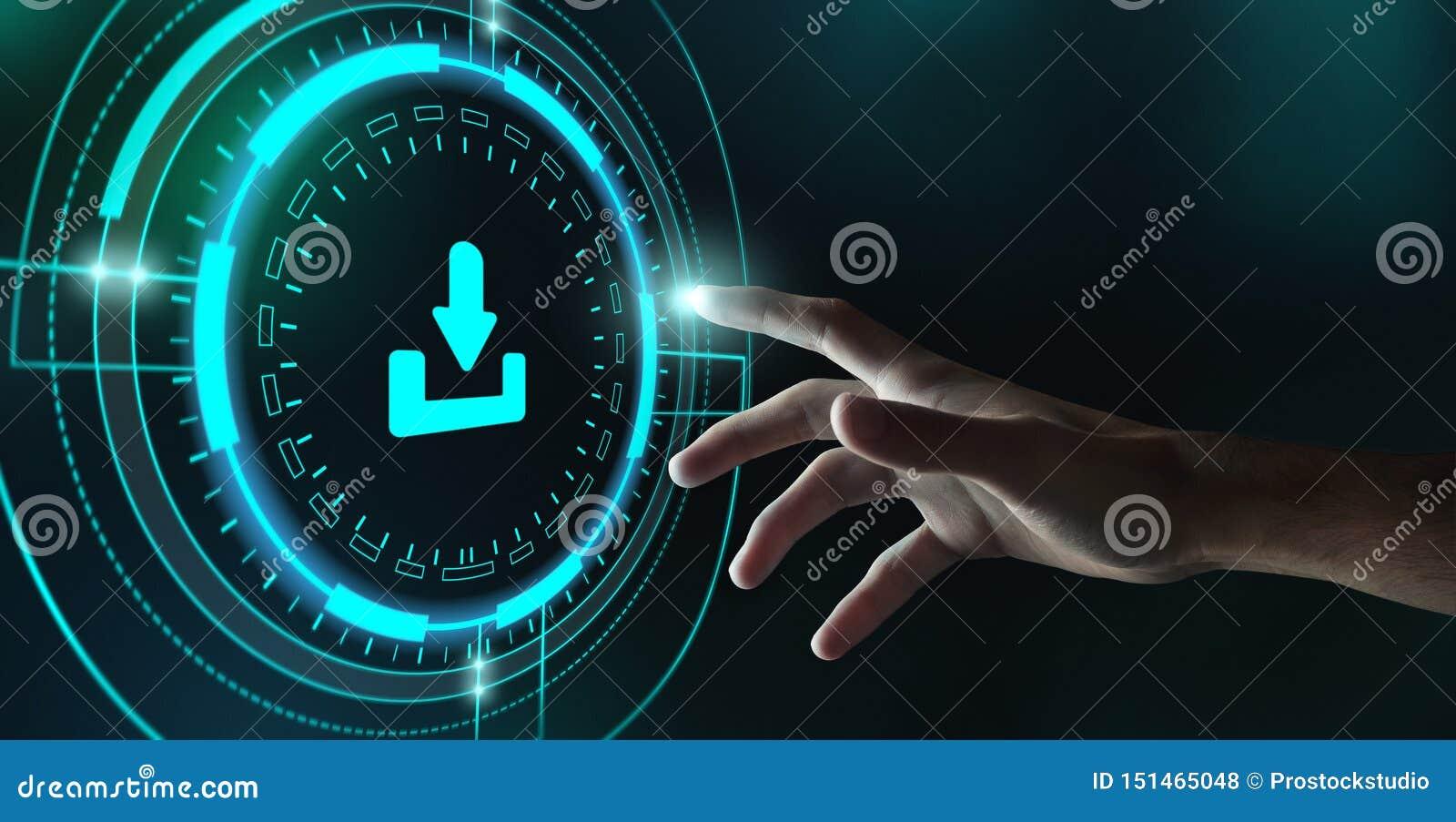 Download Data Storage Technology Network Concept, Crop