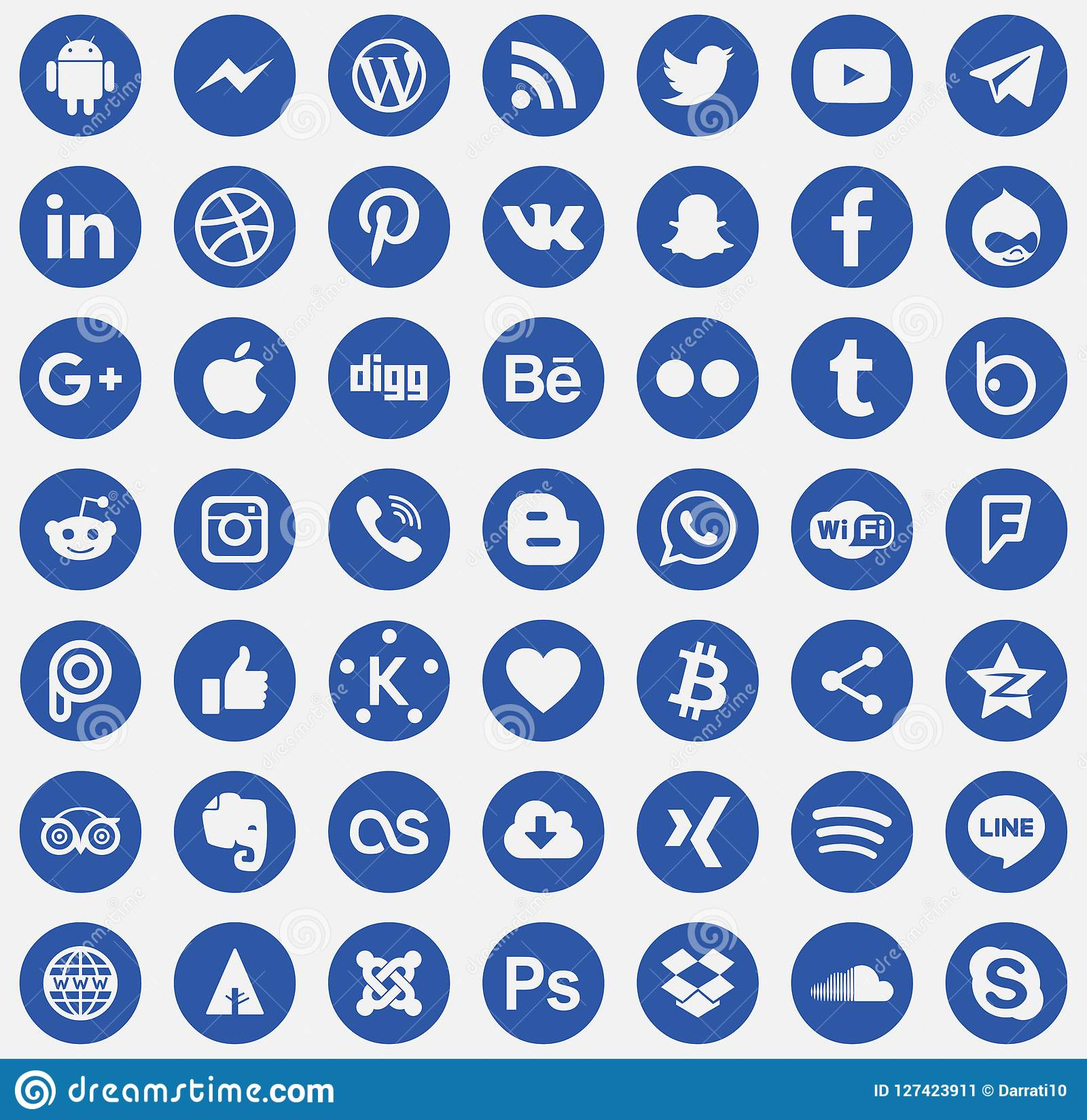Download Sociale media pictogrammenvector