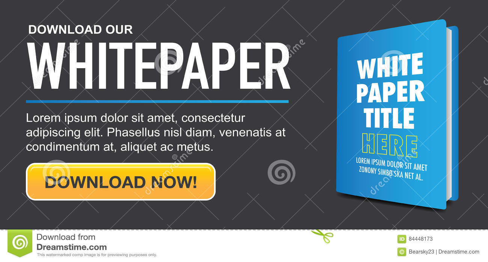 Download Whitepaper of Ebook Grafisch met Vervangbare Titel, Dekking, en CTA