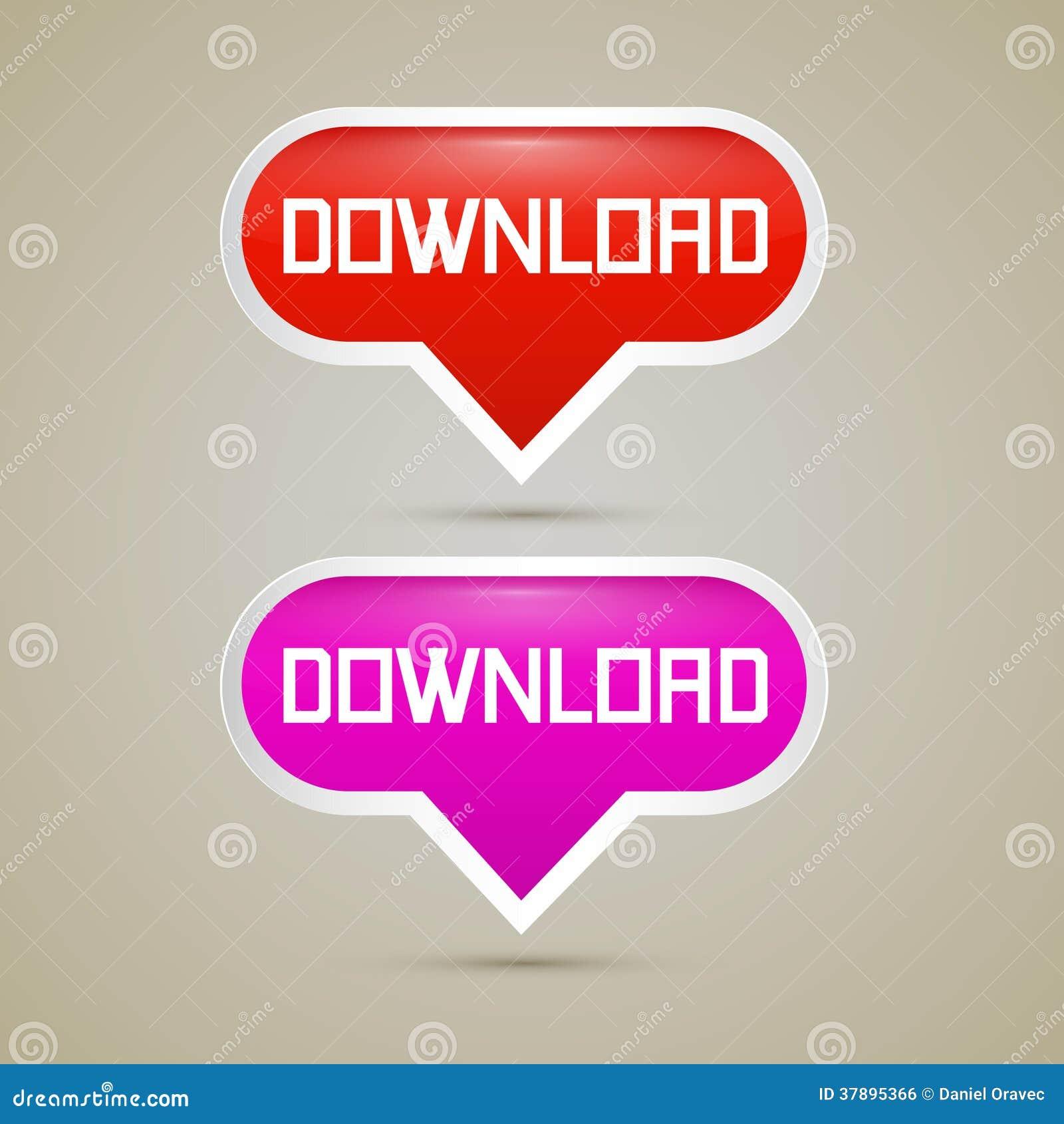 Downloadknopen - Vectorillustratie