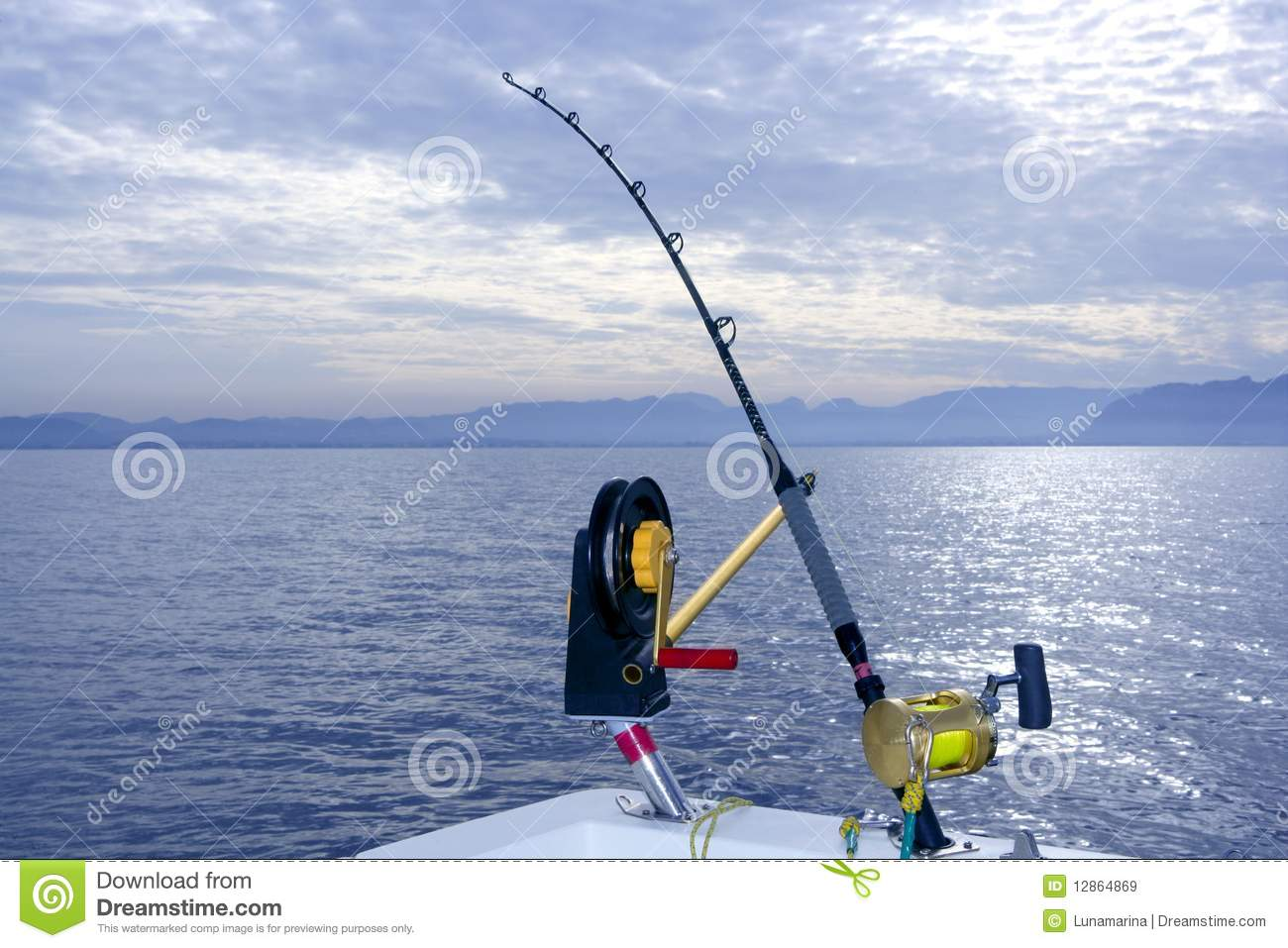 Downrigger Boat Gear Saltwater Trolling Tackle Royalty Free Stock Images - Image: 12864869