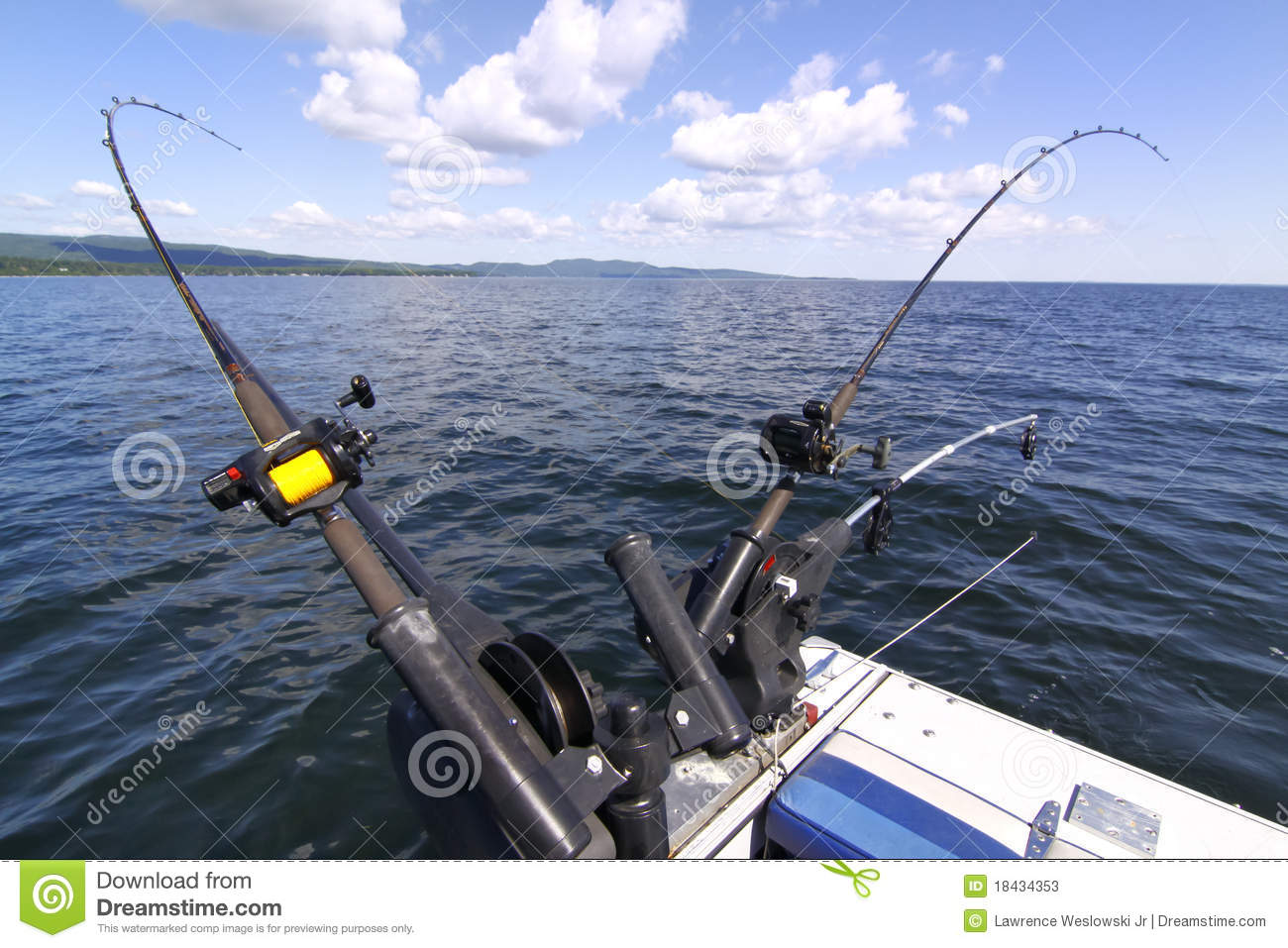 downrigger fishing rods for salmon, lake trout editorial stock, Reel Combo