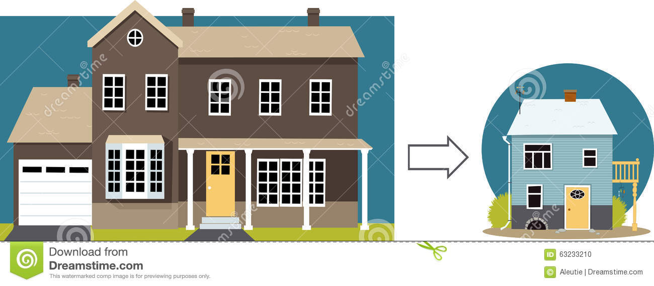 Downsizing stock vector image 63233210 for Downsize home plans