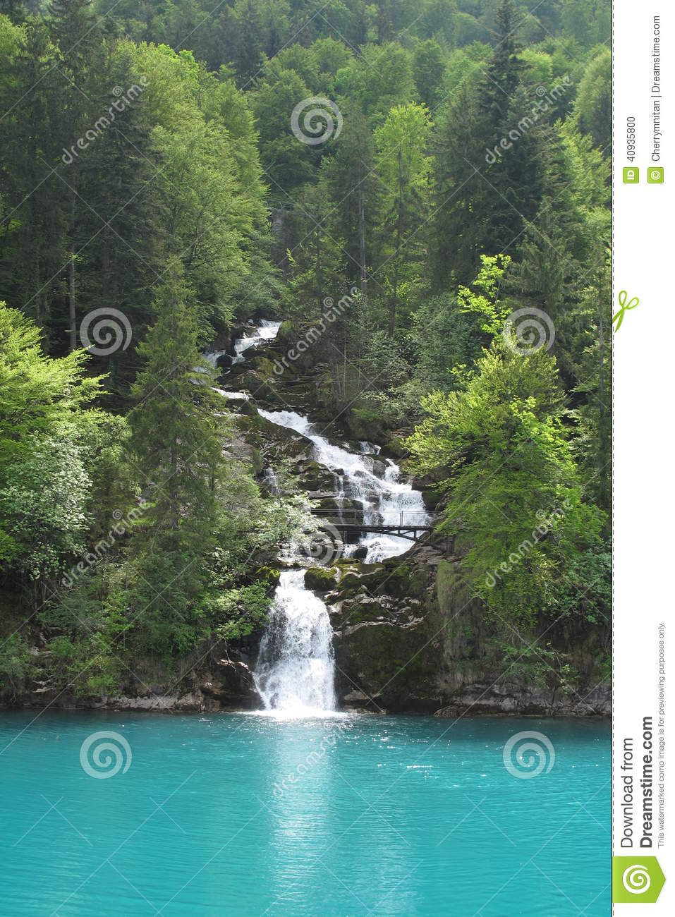 The Downstream Of Giessbach Falls Stock Photo Image 40935800
