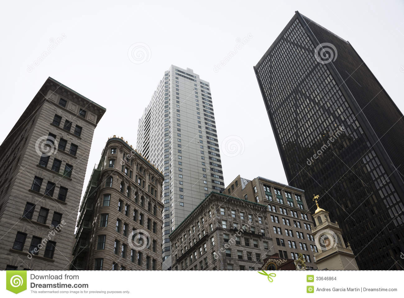 Download Downtown Boston stock photo. Image of office, contemporary - 33646864