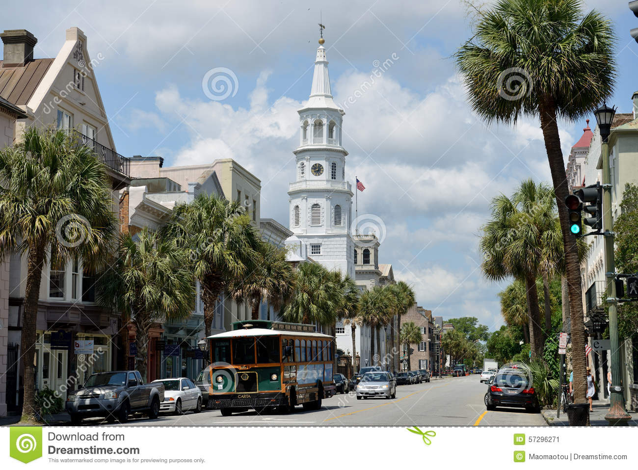 Downtown charleston sc editorial photo image of coast for How do i get to charleston south carolina
