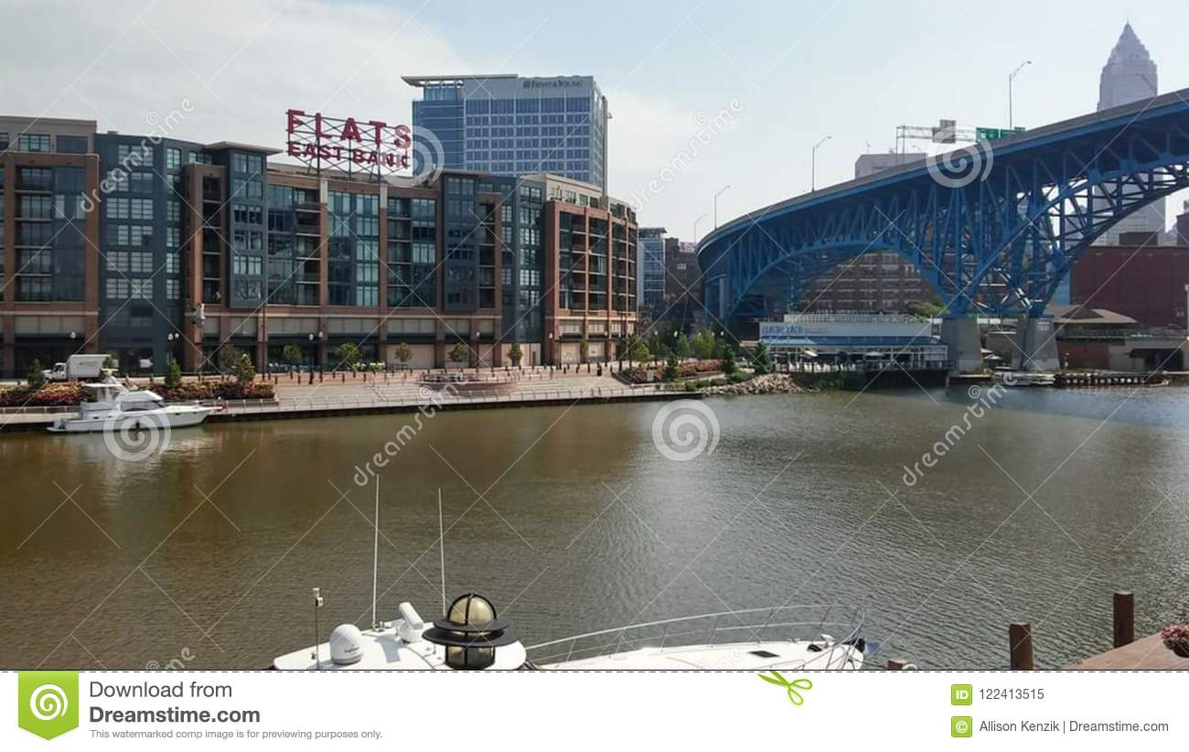 Downtown Cleveland Lake side View