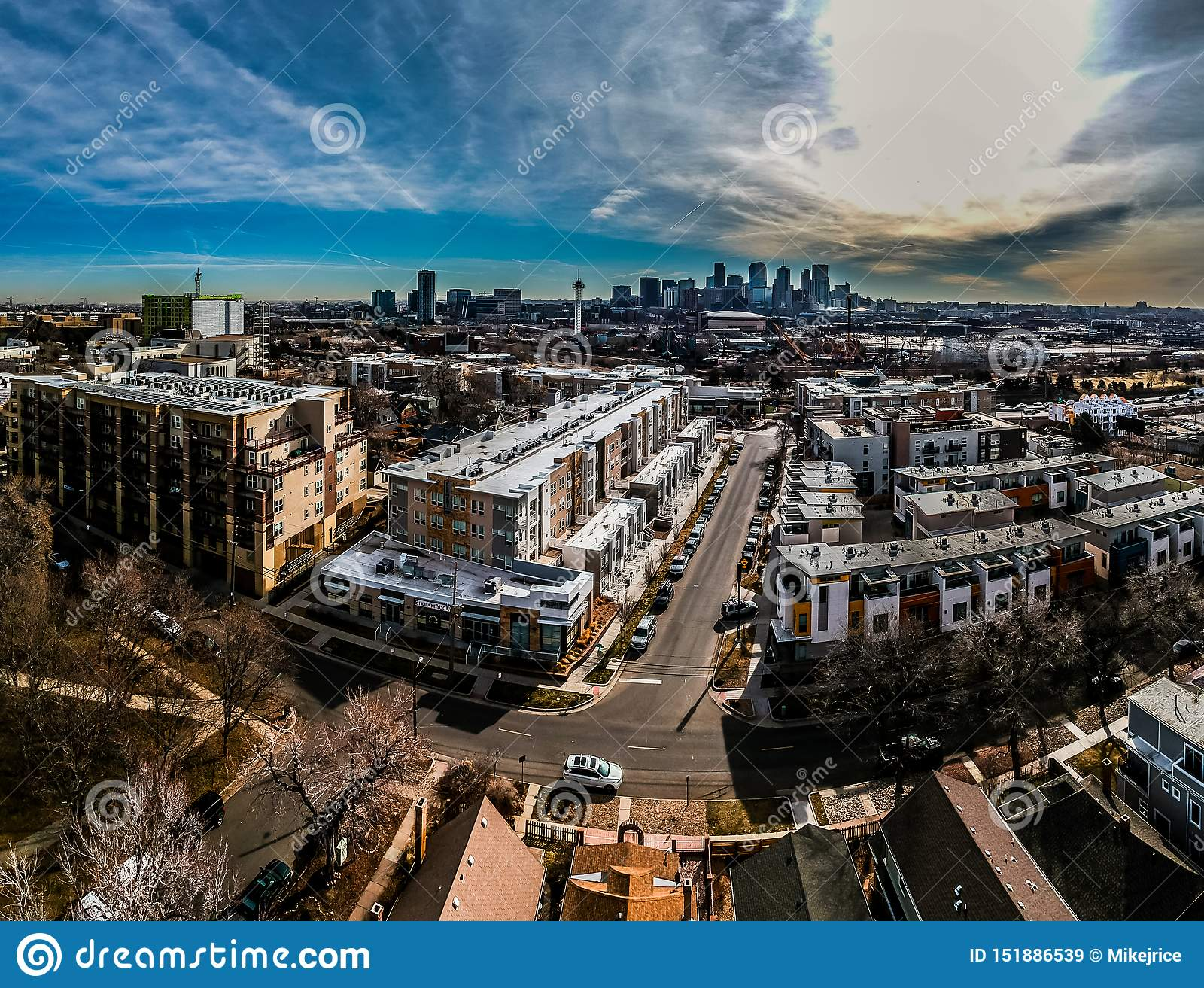 Downtown Denver Colorado stock image. Image of american ...