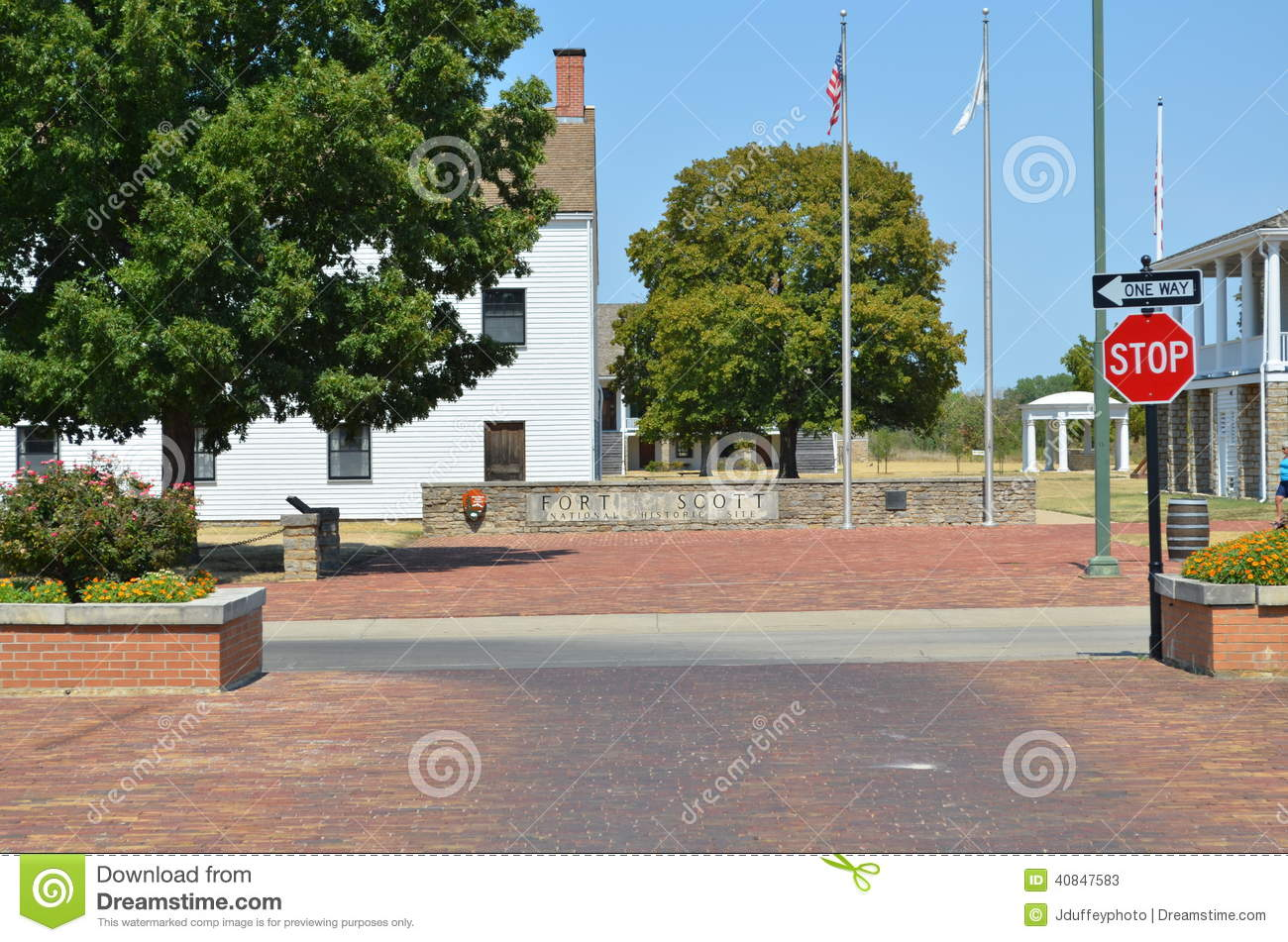 Fort Scott Ks >> Downtown Ft Scott Ks Editorial Stock Photo Image Of