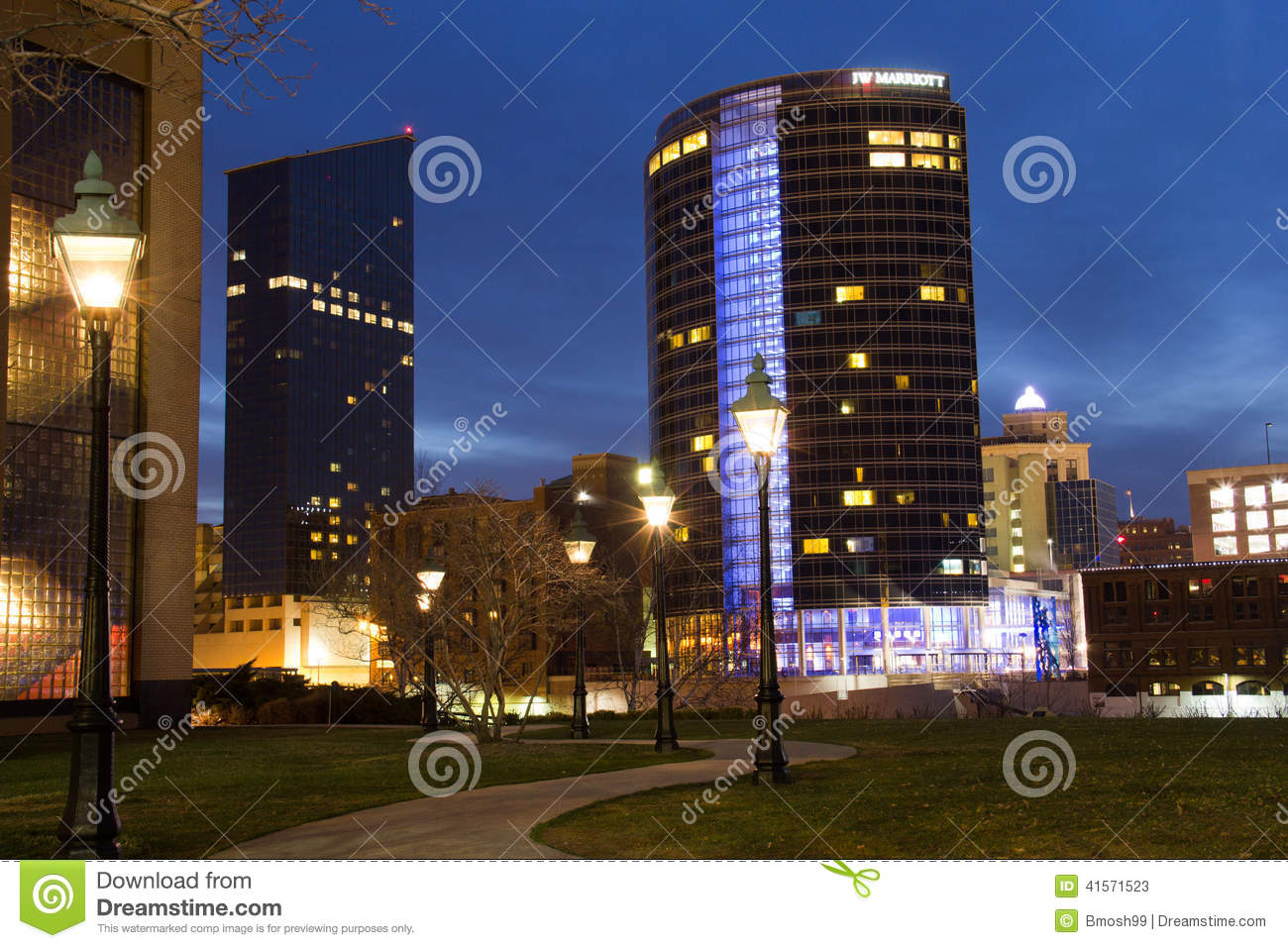 Downtown Grand Rapids at Night