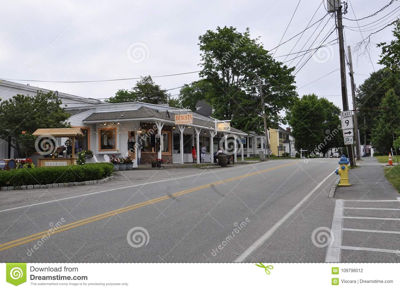 Kennebunkport, Maine, 30th June: Downtown Historic Inn from Kennebunkport in Maine state of USA