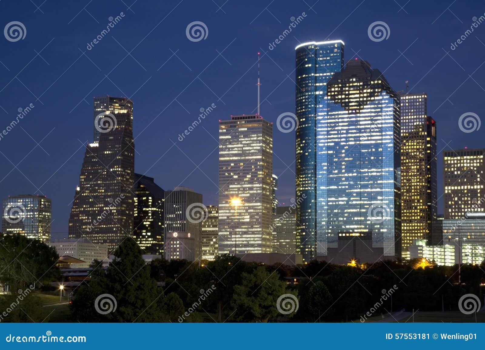 Downtown Houston night